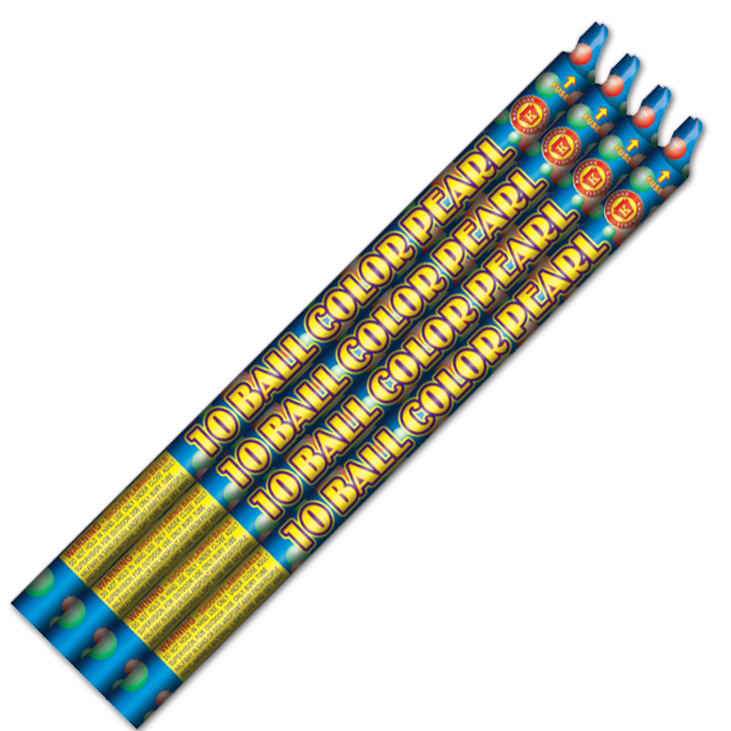 10 Ball Color Pearl Roman Candle