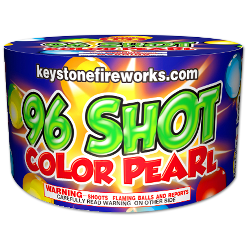 96 Shot Color Pearl - Keystone Fireworks