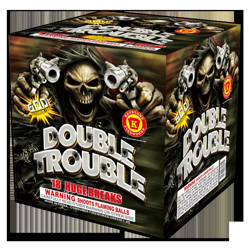 Double Trouble 500 Gram Cake - Keystone Fireworks