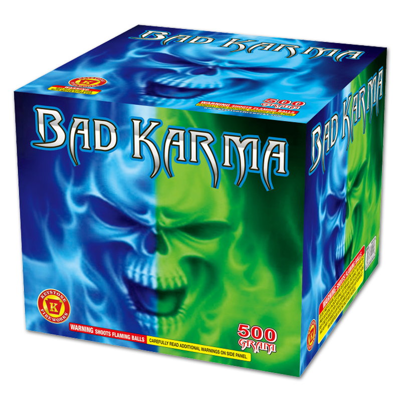 Bad Karma, Keystone Fireworks, 500 Gram Cake
