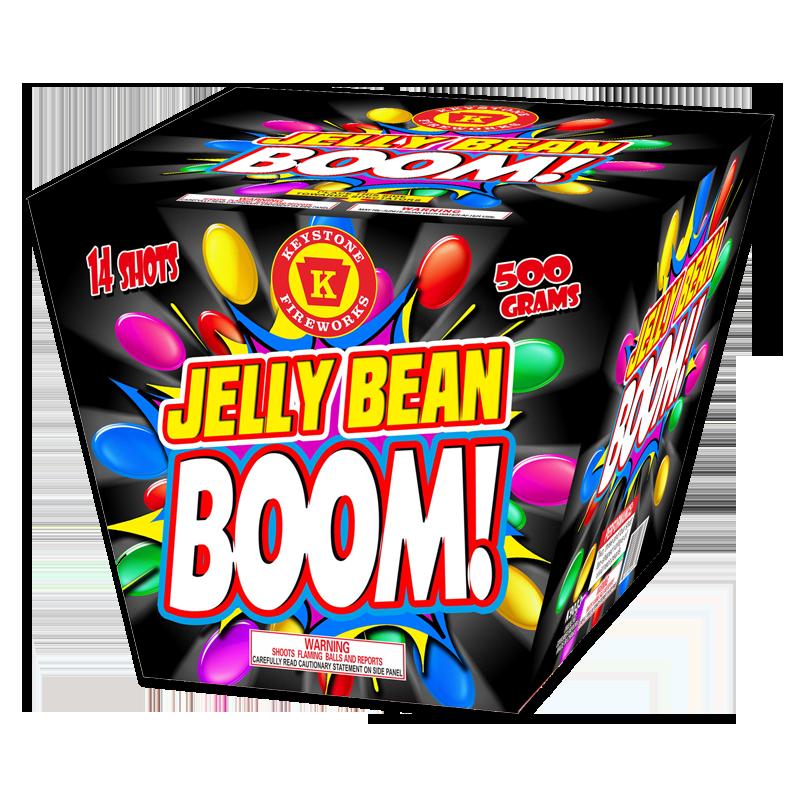 Jelly Bean BOOM 500 Gram Cake Keystone Fireworks
