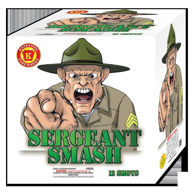 Sergeant Smash, Keystone Fireworks, 500 Gram Cake