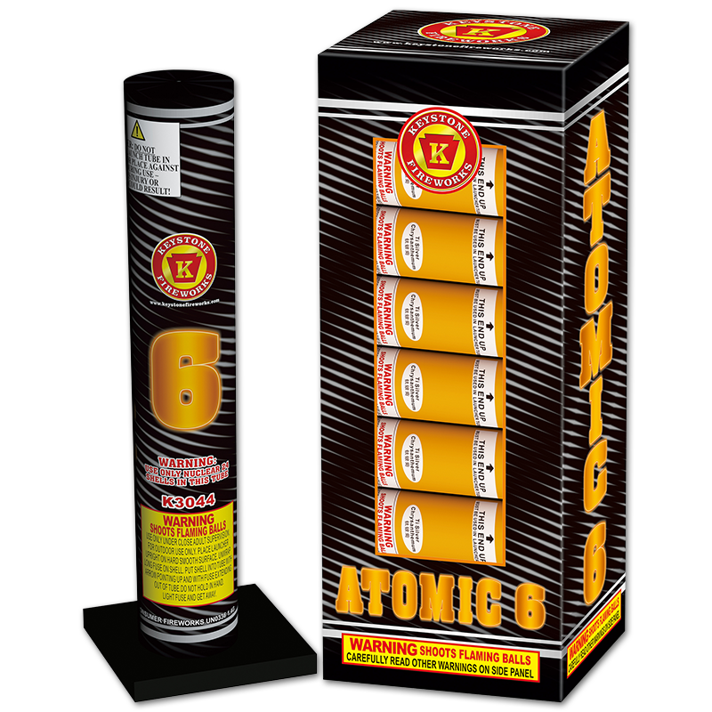Atomic 6, Keystone Fireworks, Pennsylvania, Mortar, Shell