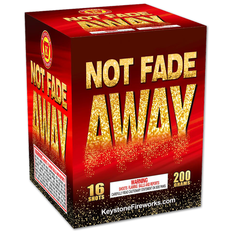 Not Fade Away, Keystone Fireworks, Pennsylvania, 200 Gram Cake