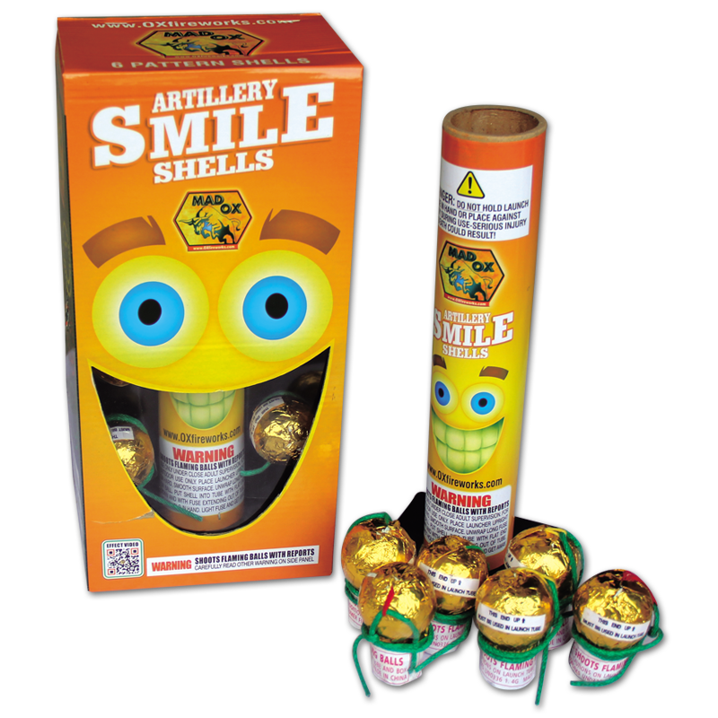 Smile Shell, Keystone Fireworks, Pennsylvania, Mortar