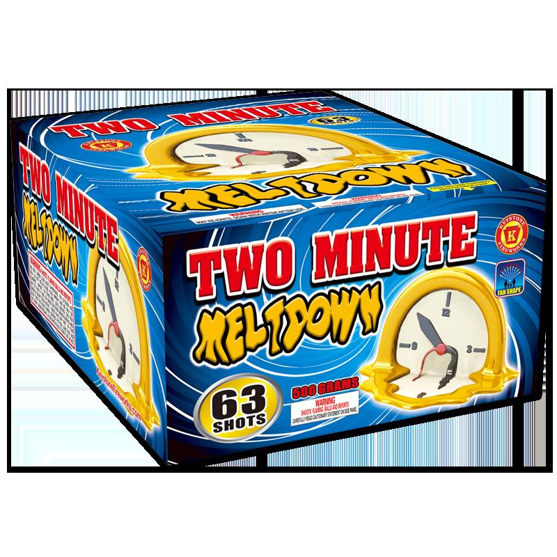 wo Minute Meltdown, Keystone Fireworks, Pennsylvania, 500 Gram Cake