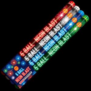 Neon Blast Roman Candle Keystone Fireworks PA